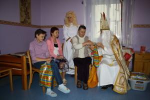 Święty Mikołaj w odwiedzinach u Mieszkańców Domu